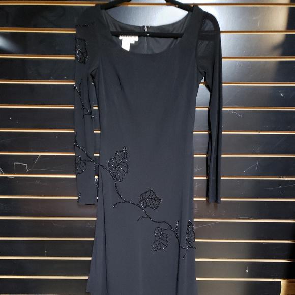 Basix II Dresses & Skirts - Basix II size 4 black dress w/beaded accents